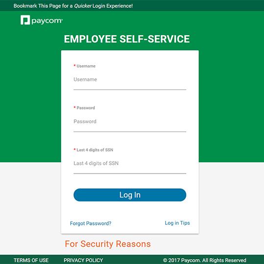 Paycom Self Service